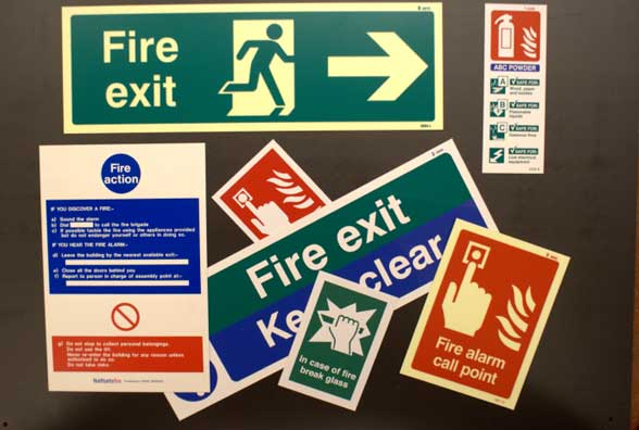 fire risk assessment signs