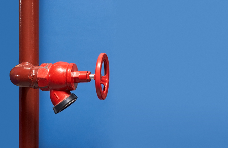 Fire water release valve