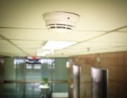 Smoke detector in corridor