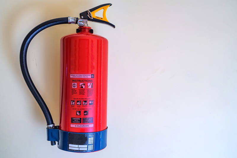 Fire extinguisher symbols