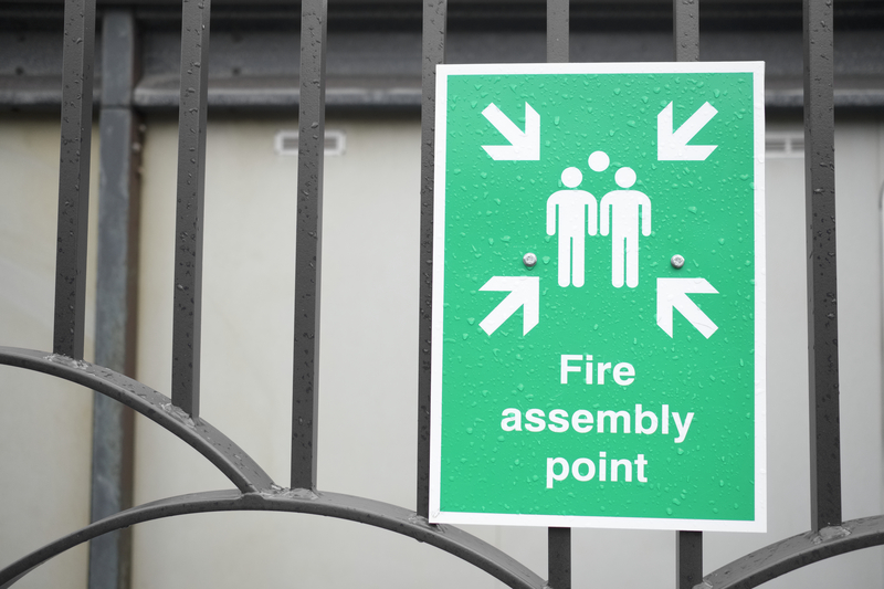 fire assembly point at the workplace