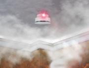 fire alarm in Smokey room